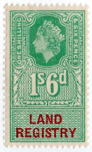 I-B-Elizabeth-II-Revenue-Land-Registry-1-6d-1960