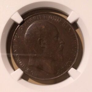 1907-Great-Britain-One-Penny-NGC-AU-58-BN-Bronze