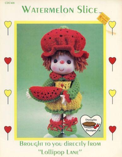 Watermelon Slice Dumplin Designs Doll Crochet PATTERN//INSTRUCTIONS