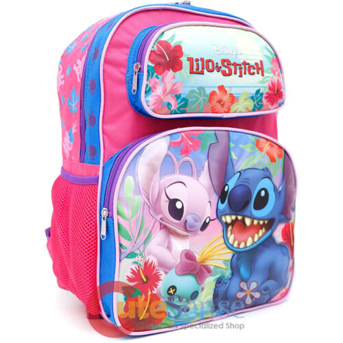 Disney Lilo and Stitch Large School Backpack Insulated Lunch Bag 2pc Set Beach