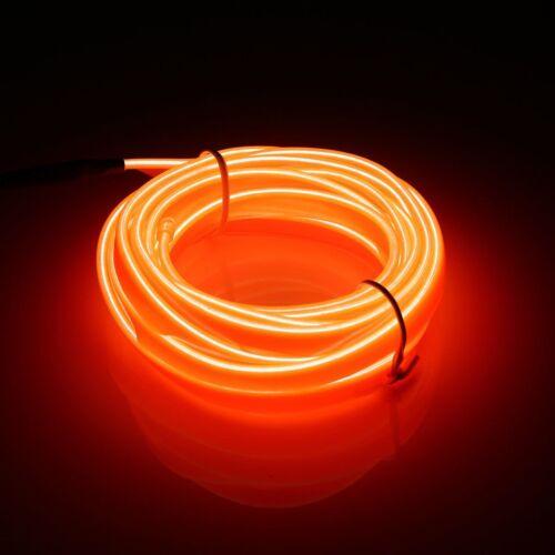 Smuxi 3 Meters LED Flexible EL Wire Neon Lights Glow Light Strip Party Festival