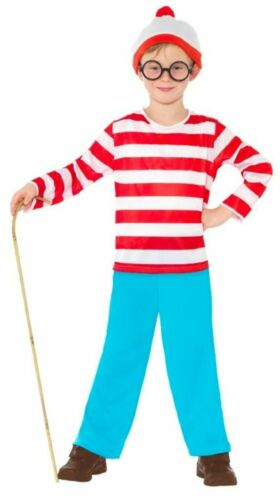 Adults Kids Where/'s Wally Wenda Costume Girls Boys Book Day Childs Fancy Dress