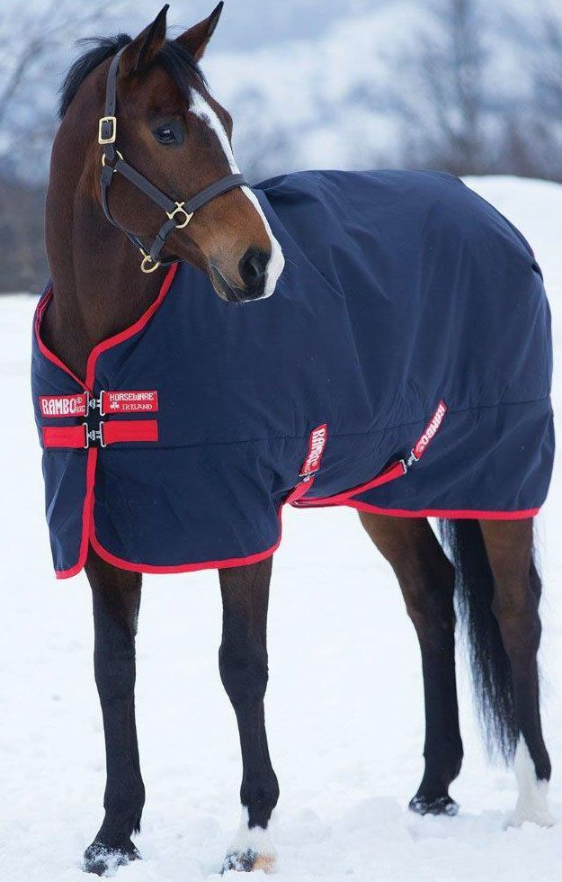 Horseware Rambo Original Medium 200g Blanket  Navyrosso  Various Dimensiones