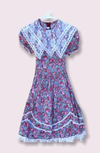 Vintage Jessica Mcclintock Gunne Sax Dress Girls S