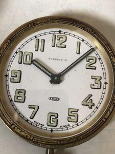 VINTAGE Elkington POCKET WATCH Car Clock Mechanical Manual Wind Spares Repair