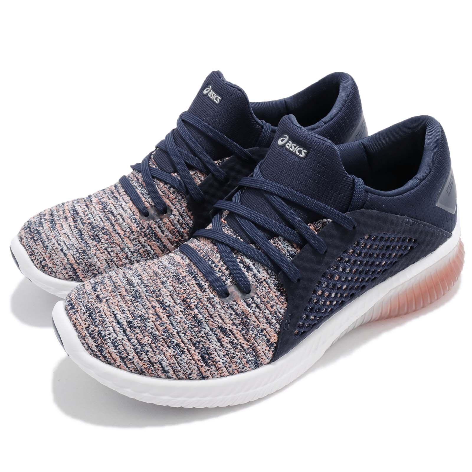 Asics Gel-Kenun Knit Rose Bleu Blanc Women Running Chaussure Baskets T882N-0649