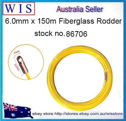 FIBREGLASS RODDER REFILL 6.0 MM X150MTS DUCT NBN TELSTRA DUCT ELECTRICIAN SNAKE