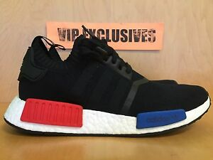 Original Adidas NMD R1 pk Black Red White