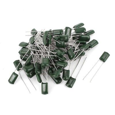 10 x 1.5nF 0.0015uF 100V 5/% Polyester Film Box Type Capacitor FREE SHIPPING