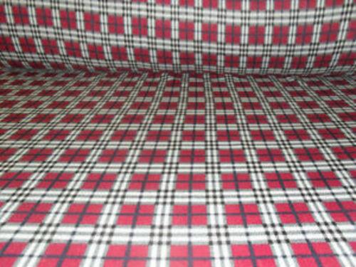 Largeur de 60 pouces plaid rouge polaire doux et lavable tissu matériel
