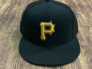Pittsburgh Pirates Black/Yellow Logo MLB Baseball Hat New Era Size - 7 1/4
