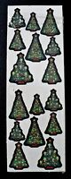 Vintage1998 Beistle Christmas Tree 32 Stickers Total 2 Sheets