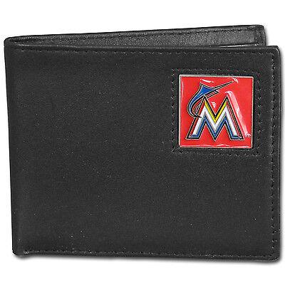 Offizielle Website Miami Marlins Bi-fold Feine Vollleder Portemonnaie,mlb Geschenkkarton Weitere Ballsportarten Baseball & Softball
