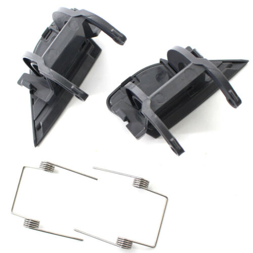 Pair For BMW E66 2005-2008 Headlight Washer Jet Nozzle Cover Cap Left Right