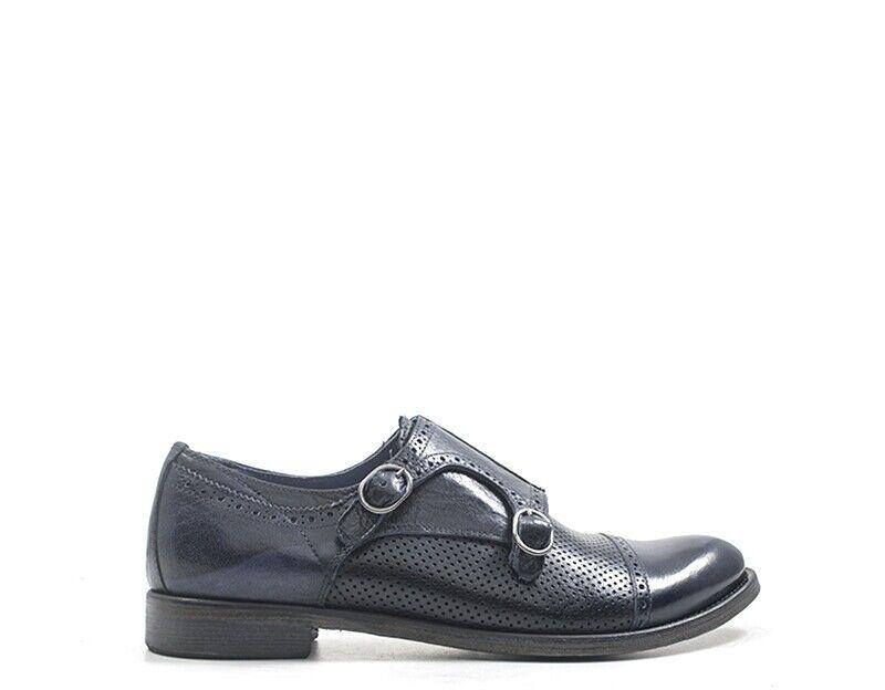 Zapatos HOLE B Hombre azul Brogue,Cuero natural BR005-BL