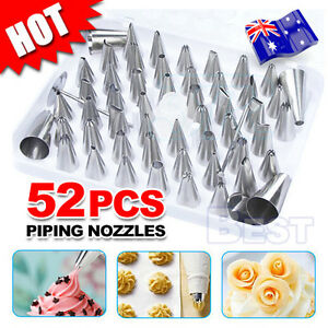 52pcs-Cream-Icing-Piping-Nozzles-Set-Kit-Pastry-Tips-DIY-Cake-Decorating-Tool-AU