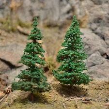 "MOOSE CREEK TREES - Fir Pine Trees (20 pc x 2"" Tall) Conifer Green HO N Z Scales"