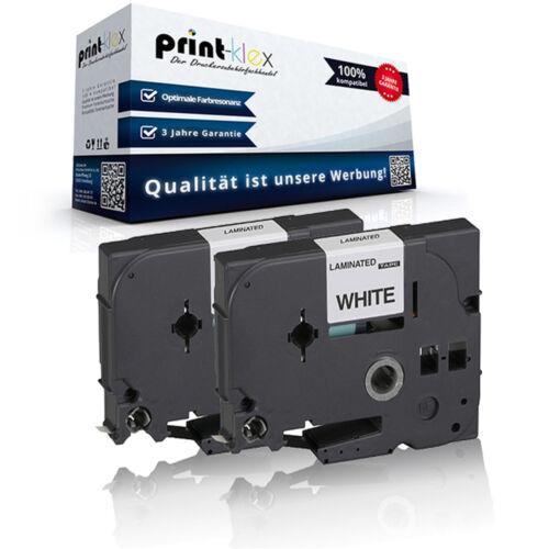 2x Premium kompatible Schriftbänder für Brother TZE221 Schriftrolle Easy Print S
