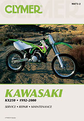 Clymer Repair Service Shop Manual Vintage Kawasaki KX250 92-00