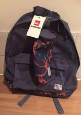 Quiksilver Backpack Carbon Blue With Graphic Print & Pencil Case - See Note!!