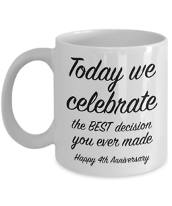 4th Anniversary Gift Ideas For Him 4 Year Wedding Gift For Her We Celebrate Ebay