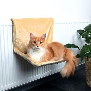 image is loading trixie deluxe plush radiator cat bed hammock beige  trixie deluxe plush radiator cat bed   hammock beige 43201      rh   ebay co uk