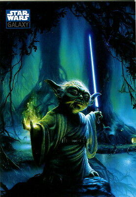 STAR WARS GALAXY SERIES 6 2010 TOPPS NON-SPORT UPDATE PROMO CARD P2 YODA