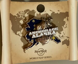 Hard-Rock-Cafe-ANCHORAGE-2017-3-D-WORLD-MAP-Series-PIN-New-on-Card-LE-100-95295