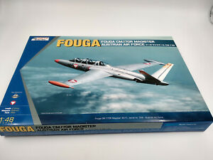 Maquette-a-monter-Avion-Fouga-Magister-Austrian-air-force-Kinetic-1-48
