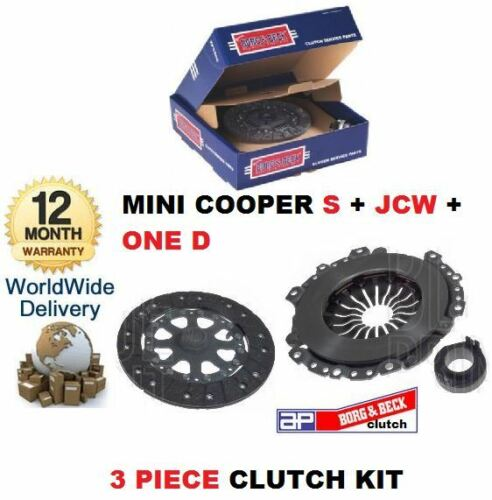 FOR BMW NEW MINI COPPER D ONE D JC WORKS 2002-2007 PLATE BEARING CLUTCH KIT SET