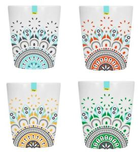 Red Blue Orange Green Melamine Abstract Summer Tumbler 70 x 84mm Camping Kitchen