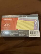 Office Depot Index Cards Ruled 3 X 5 100 Cards Ideal For Presentationscolored