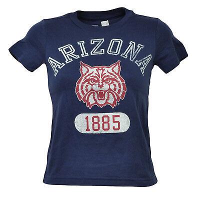 Fanartikel Weitere Ballsportarten LiebenswüRdig Ncaa Arizona Wildcats Marineblau Kinder T-shirt Baumwolle Kurzarm Rundhals Tropf-Trocken