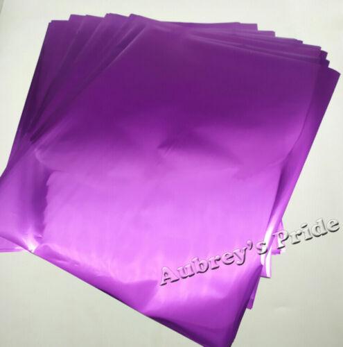 50PK A4 20x30CM Argent Or Transfert Foil Papier Imprimante Laser Hot Ther Laminateur