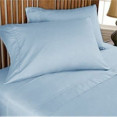 """800 Thread Count 100%Egyptian Cotton Sheets 15""""Deep Pocket 4pc Sheet Set Solid"""
