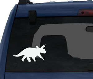 Dinosaur-Silhouette-3-Triceratops-Horns-and-Crown-Car-Tablet-Vinyl-Decal