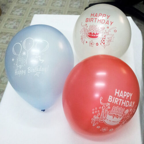 "12/"" mixed colors happy birthday latex balloon celebration party decoration"