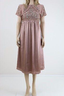 28cf66e7055fb Maya Maternity Midi Dress With Satin Skirt And Embellished Bodice UK SIZE  10 | eBay