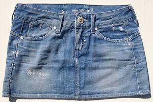 G-Star-Raw-Skirt-039-CORVET-MINI-SKIRT-039-Size-26-Light-Aged-Destroy-Womens-or-Girls
