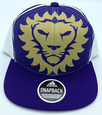 Mls Orlando City Sc Adidas Structured Flat Brim Adjustable Fit Cap Hat #vw78z Delicious In Taste Basketball Sporting Goods