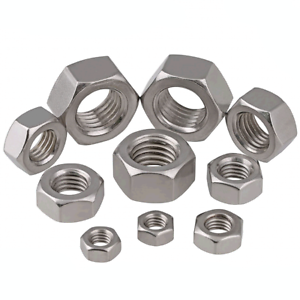 304-Stainless-Steel-DIN934-Metric-Hexagon-Full-Nuts-M1-M30-Fit-Washers-Bolts