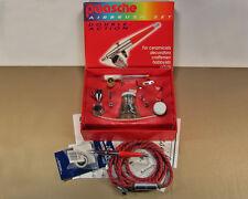Paasche VL double action airbrush set w/ hose, moisture trap + accessories - NOS