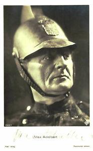 Max Adalbert    *  Original Unterschrift auf Ross Karte Nr. 4052a