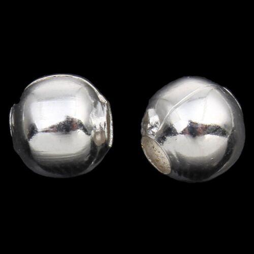 50 Metallperlen Zwischenteile SPACER Rund 8mm Silber Metall Schmuck M142