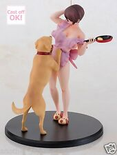 Housewife Homemaker Misao 32 Years Old & Pet dog 1/6 Scale Cast Off Figure F/S