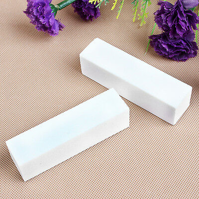 10 pcs White Nail Art Buffer Buffing Sanding Files Block