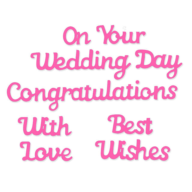 New Sweet Dixie Metal Cutting Dies Wedding On Your Wedding Day