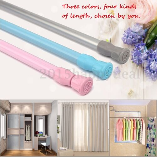 Spring Loaded Extendable Telescopic Net Voile Tension Curtain Rail Pole Rod Rods