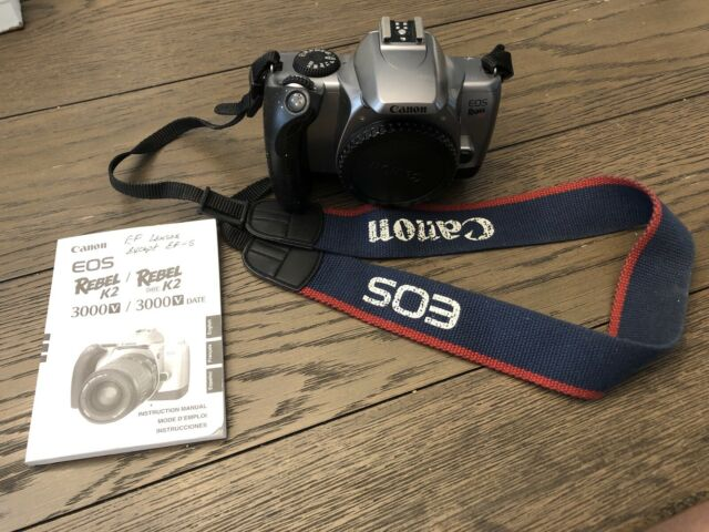 Canon Rebel Eos K2 Camera Body W   Strap  U0026 Manual