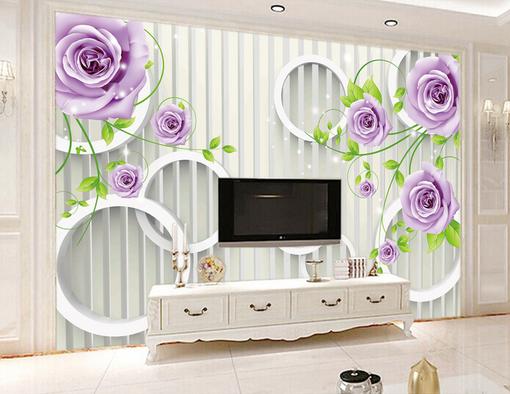 3D Weiß Circle Petals 02 Wall Paper Wall Print Decal Wall AJ WALLPAPER CA